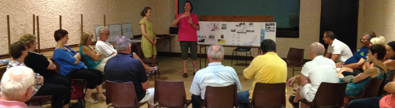 atelier d'échange avec les habitants concernant le projet d'aménagement de la traversée de Friauville