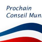 Prochain conseil municipal le 24 sept 2021